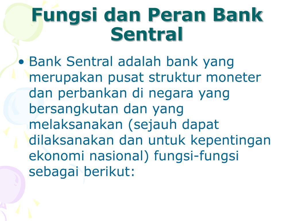 Fungsi dan Peran Bank Sentral