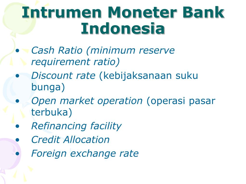 Intrumen Moneter Bank Indonesia