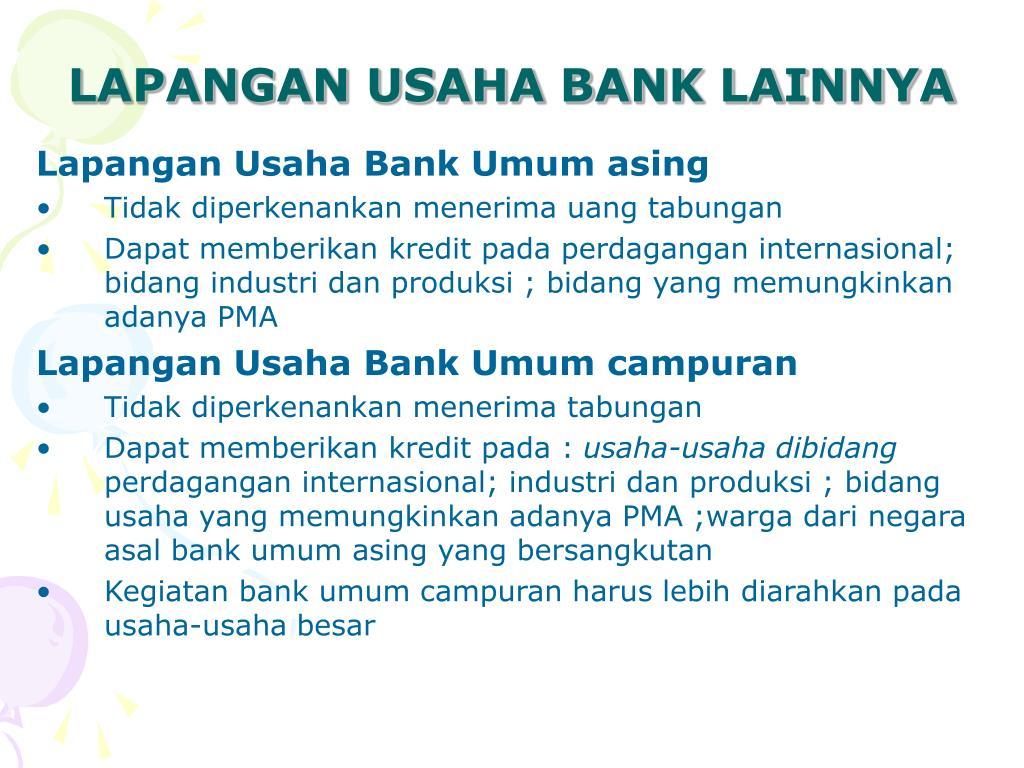 LAPANGAN USAHA BANK LAINNYA