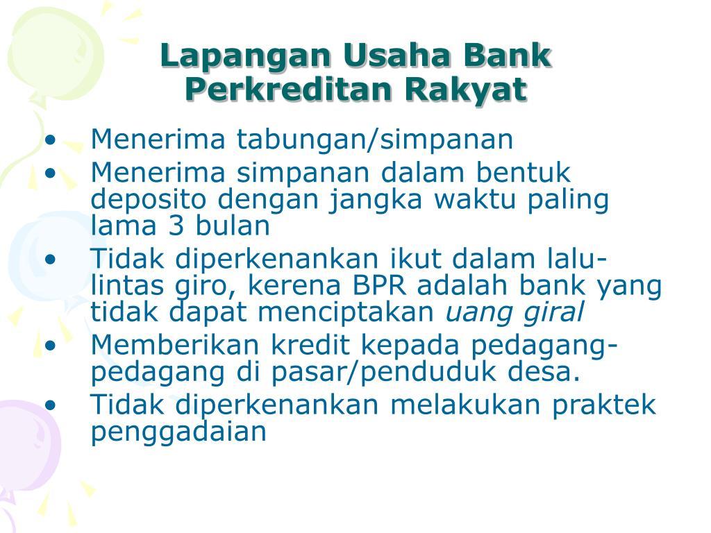 Lapangan Usaha Bank