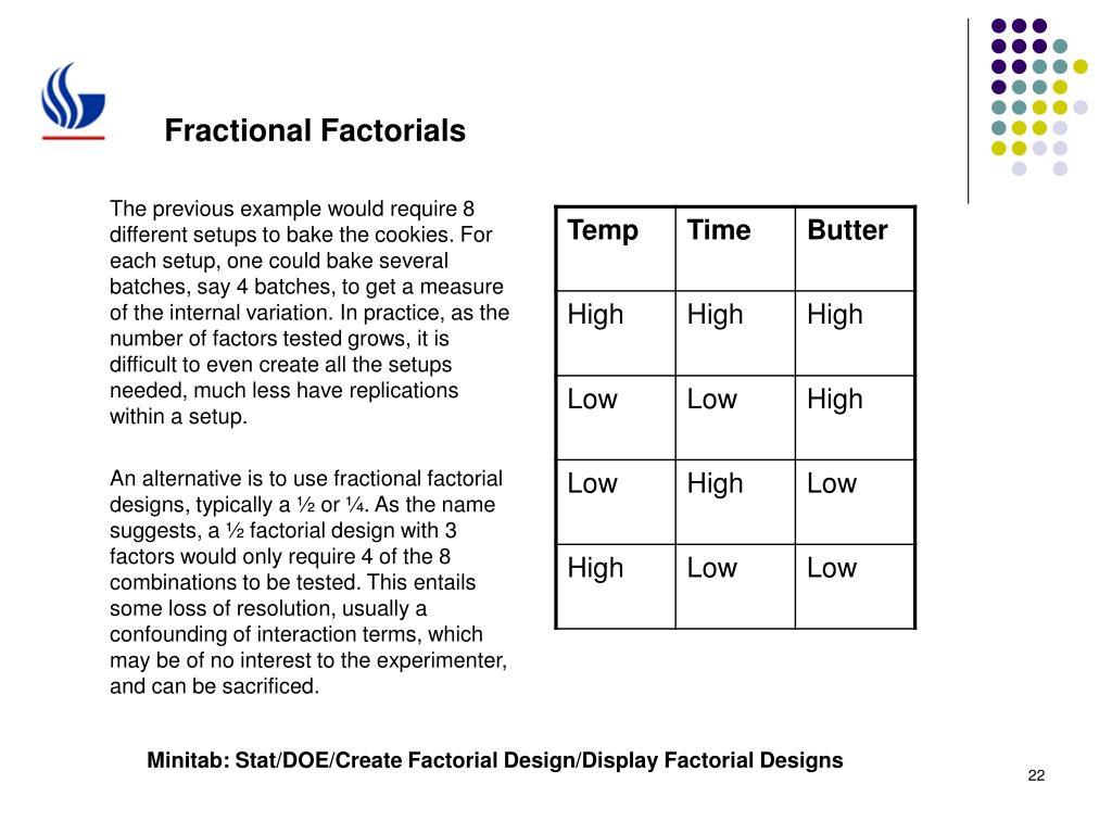 Fractional Factorials