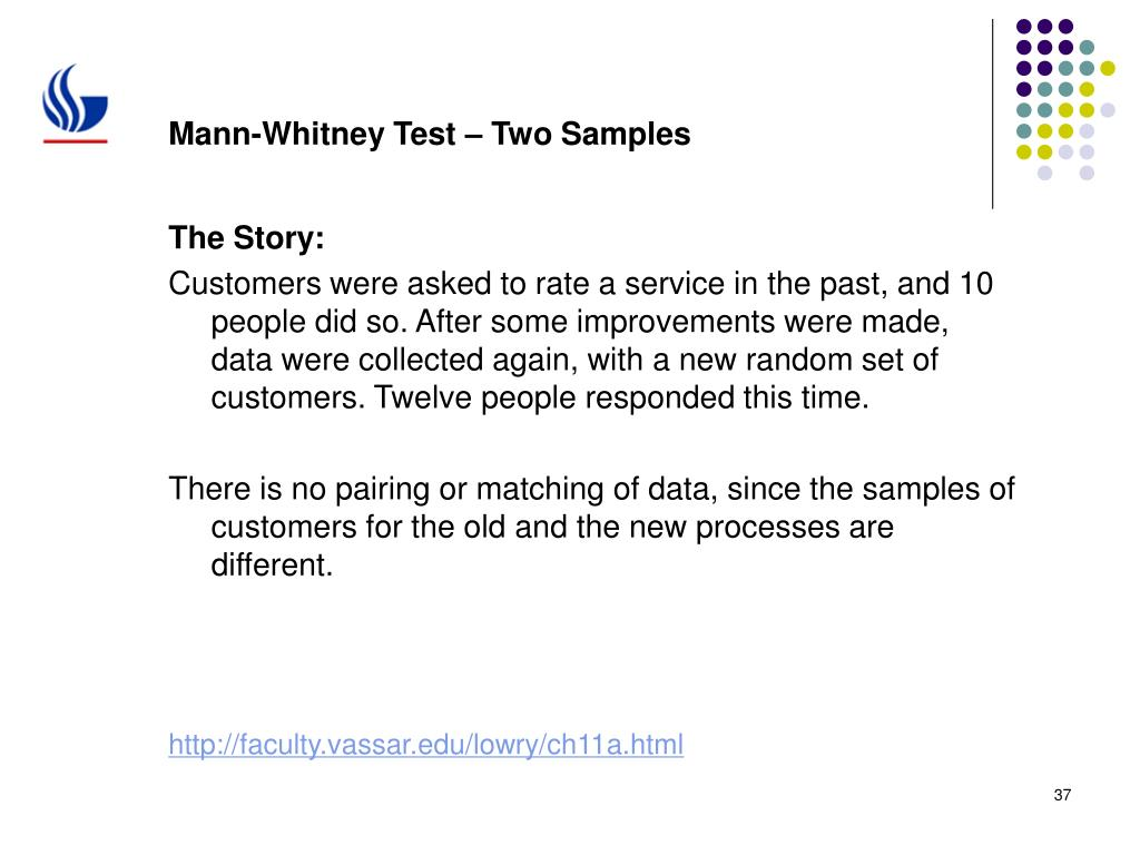 Mann-Whitney Test – Two Samples