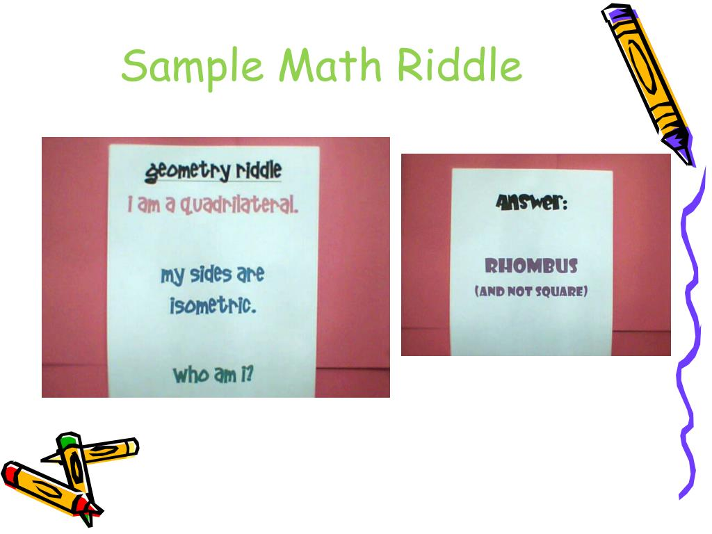 Sample Math Riddle