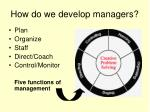 how do we develop managers