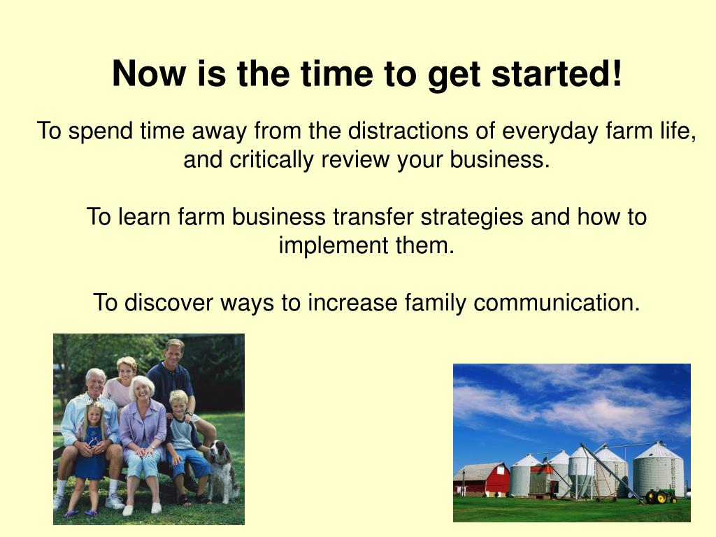 Now is the time to get started!