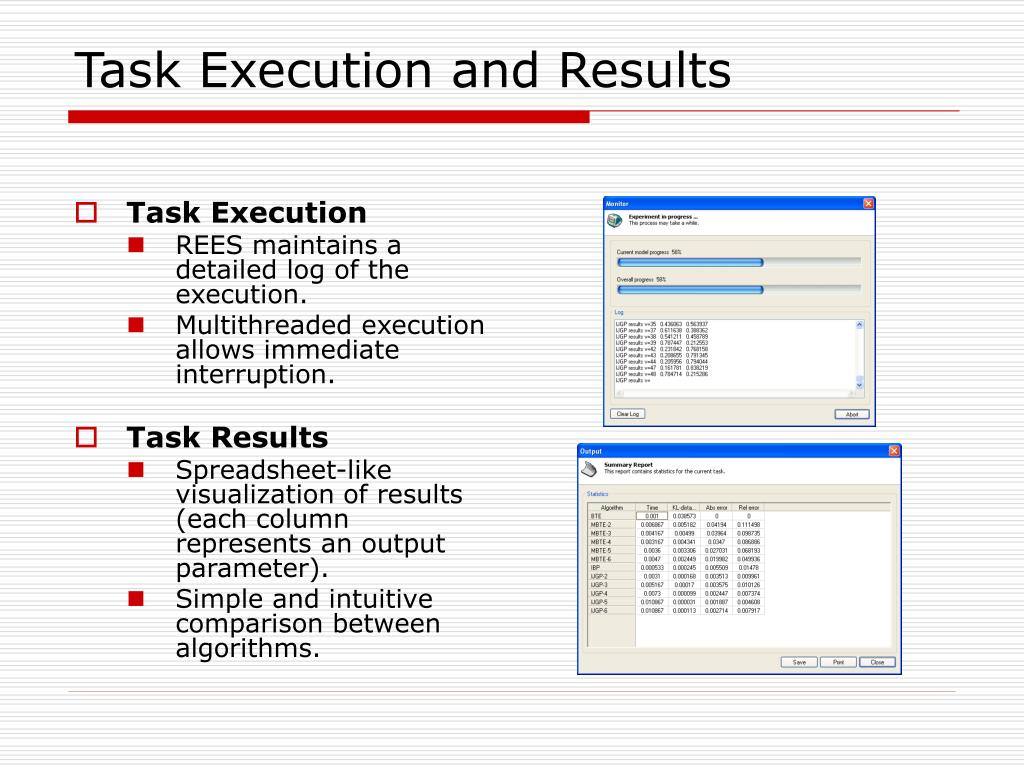 Task Execution and Results