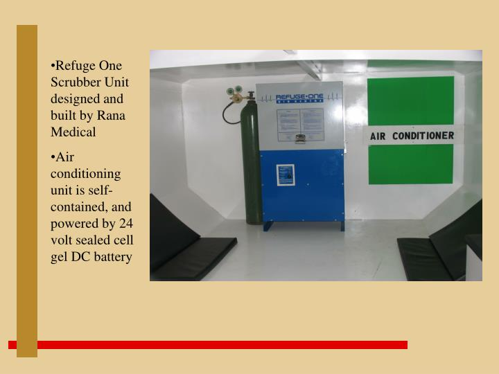 Refuge One Scrubber Unit designed and built by Rana Medical
