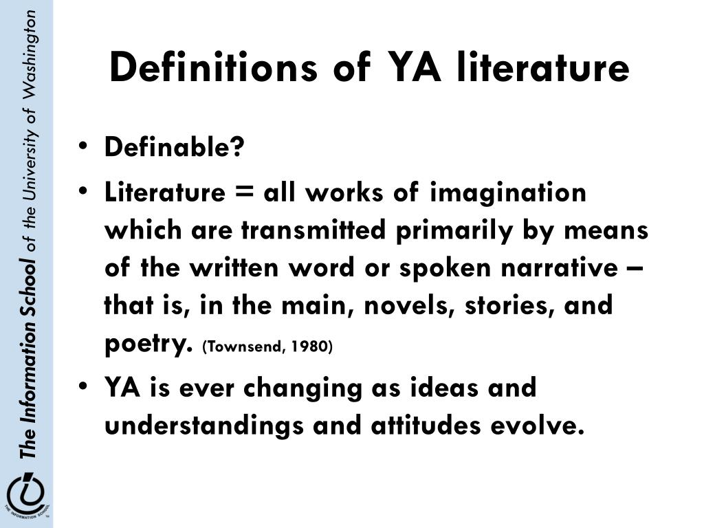 Definitions of YA literature
