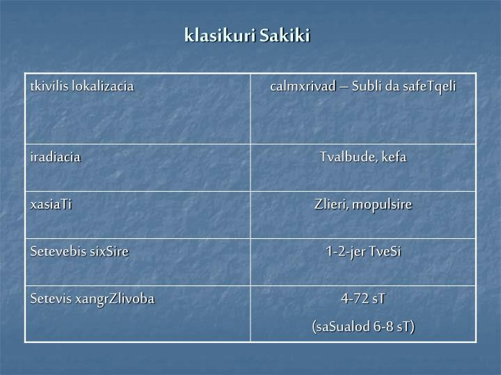 klasikuri Sakiki