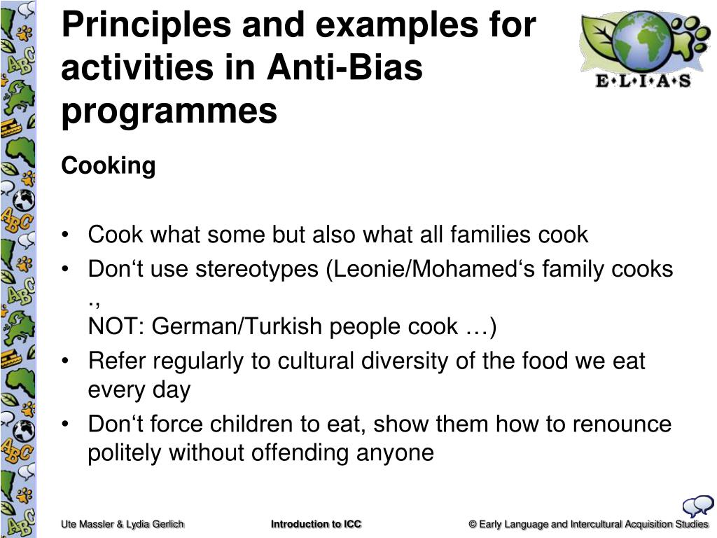 Principles and examples for activities in Anti-Bias