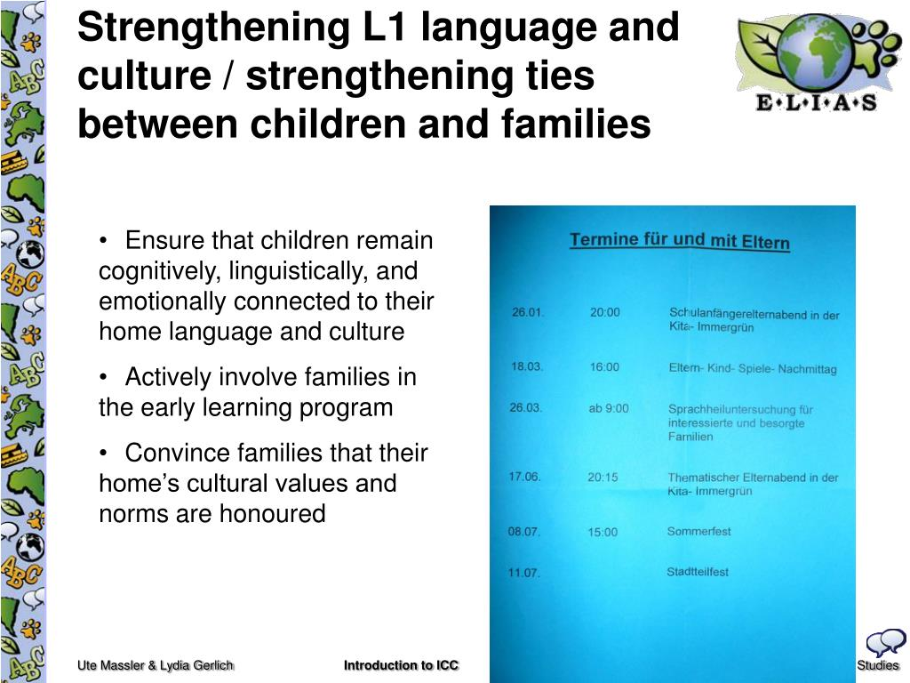 Strengthening L1 language and