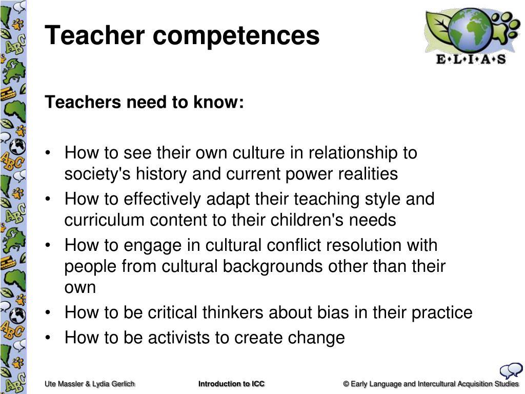 Teacher competences