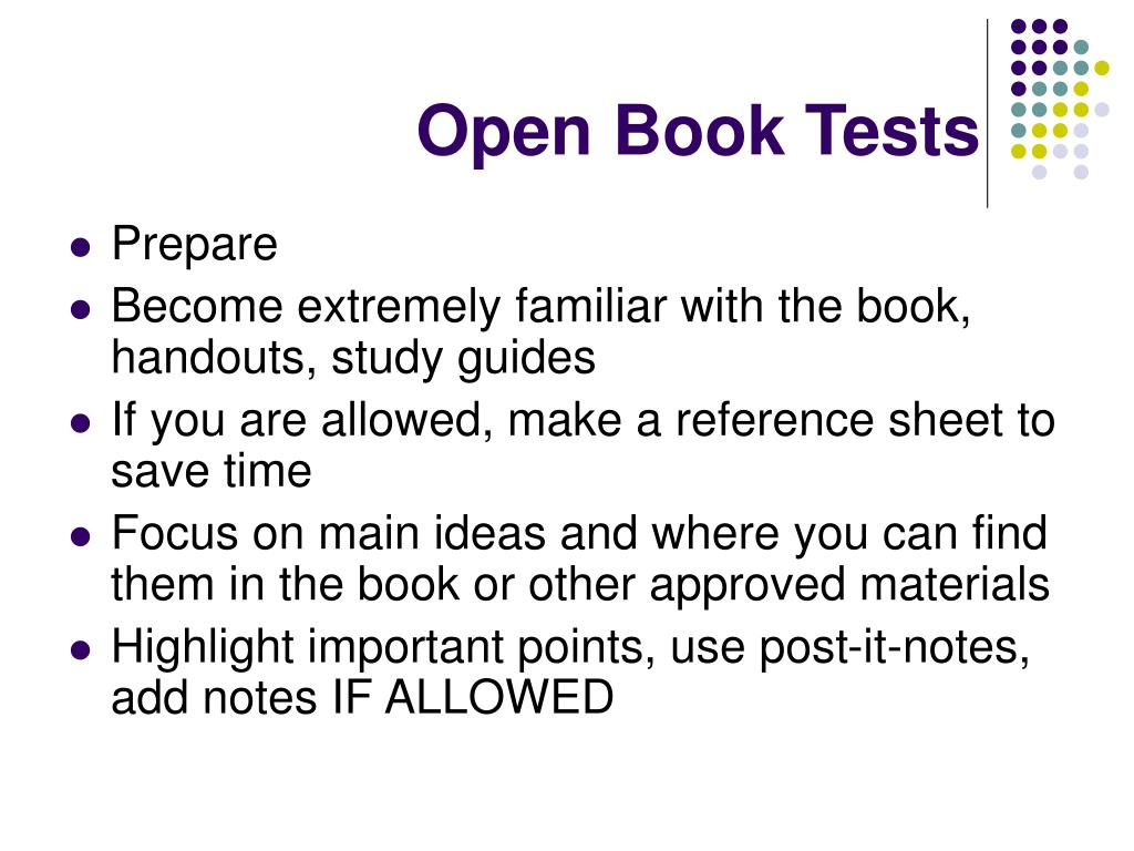 Open Book Tests