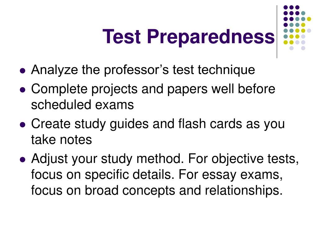 Test Preparedness
