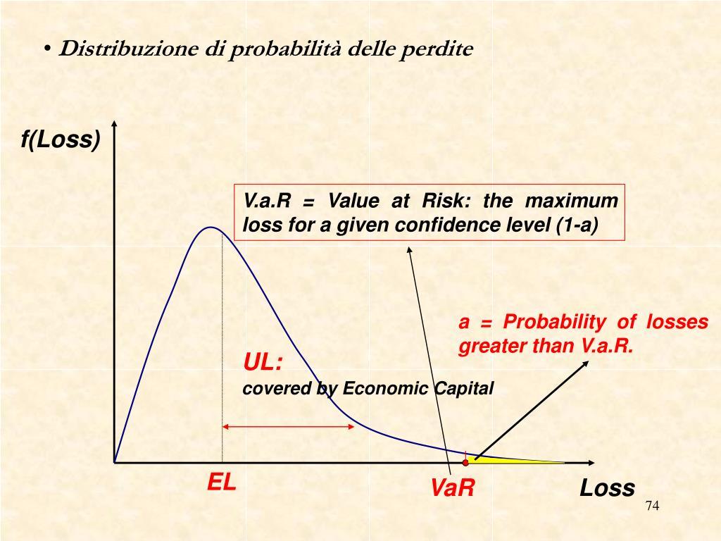 Distribuzione di probabilità delle perdite