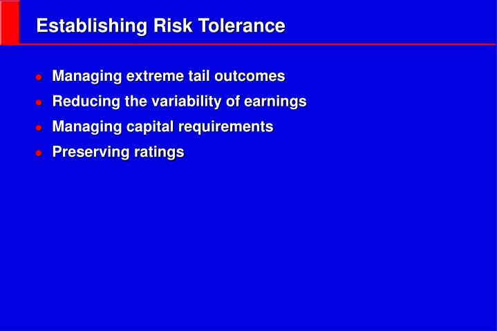 Establishing Risk Tolerance
