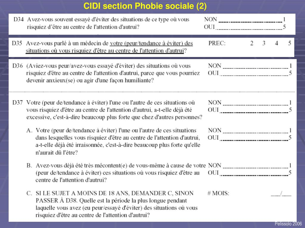 CIDI section Phobie sociale (2)