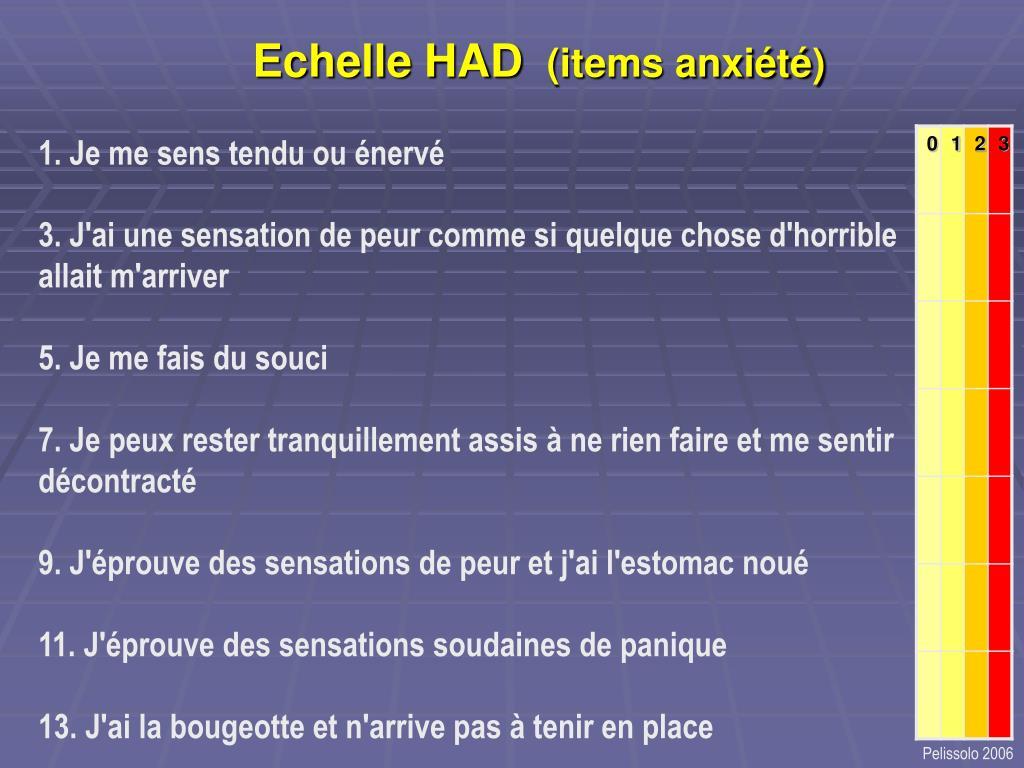 Echelle HAD