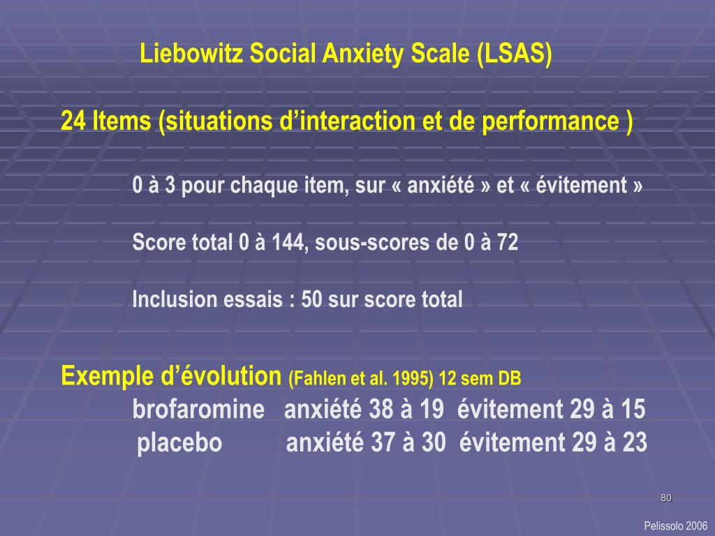 Liebowitz Social Anxiety Scale (LSAS)