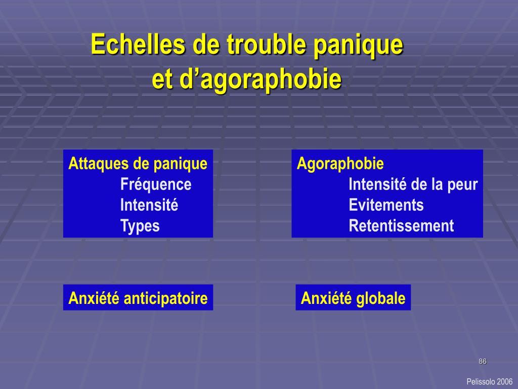 Echelles de trouble panique et d'agoraphobie