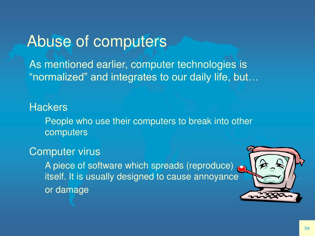 Abuse of computers
