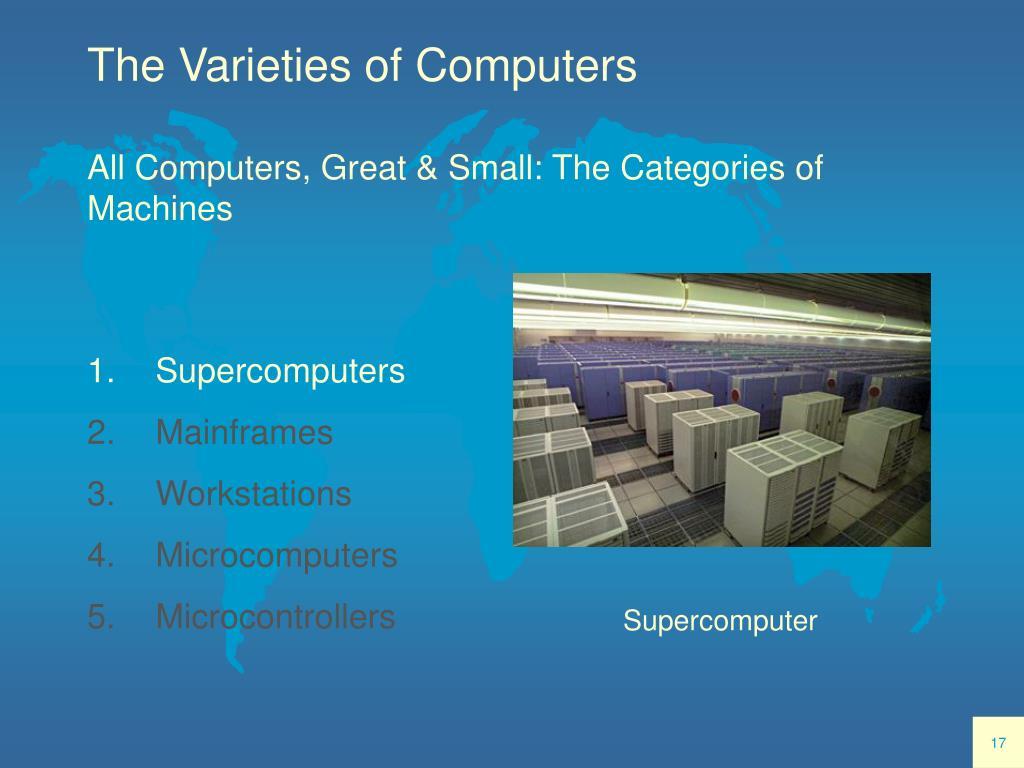 The Varieties of Computers