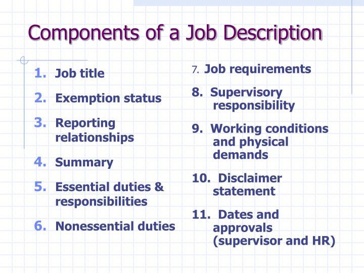 Job title