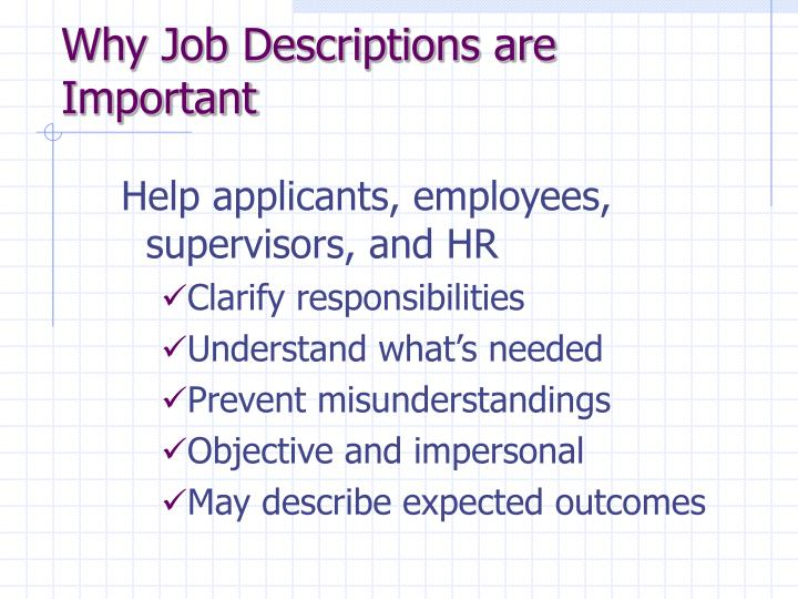 Why Job Descriptions are Important