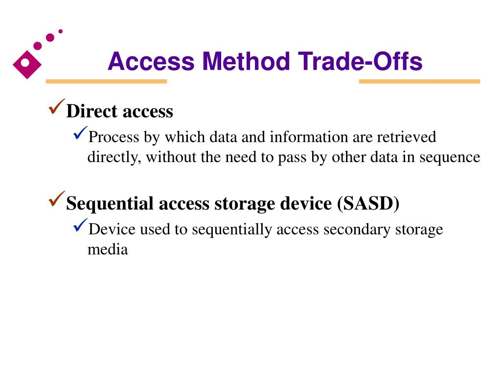 Access Method Trade-Offs