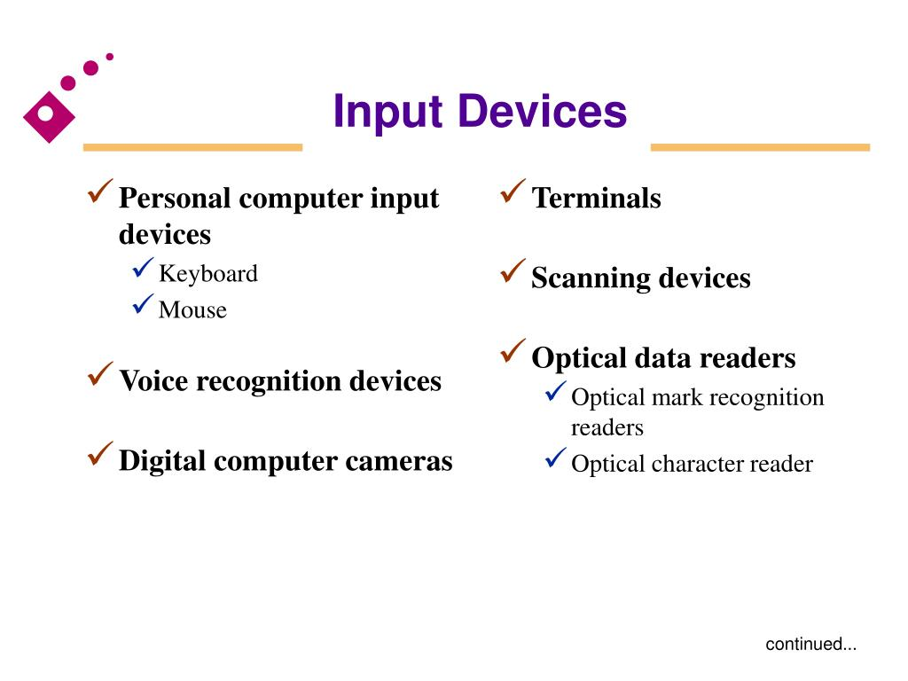 Personal computer input devices