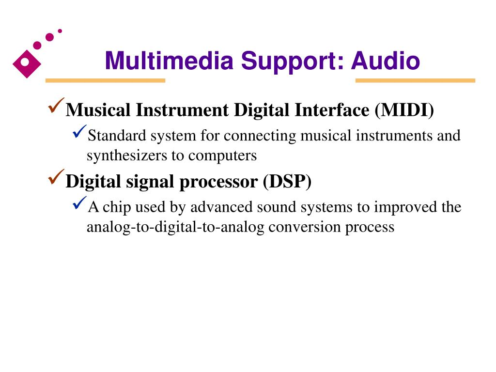Multimedia Support: Audio