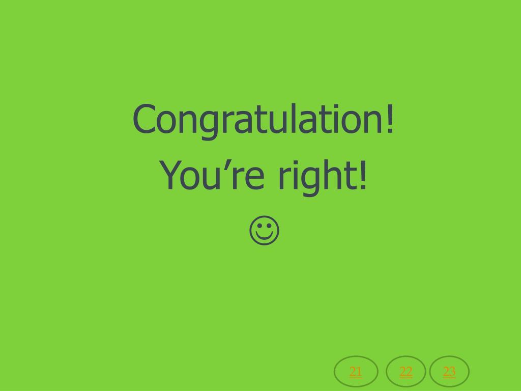 Congratulation!