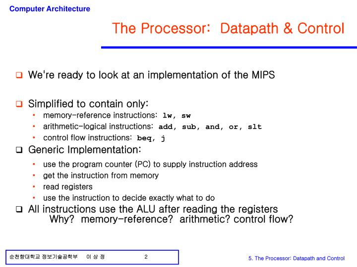 The processor datapath control
