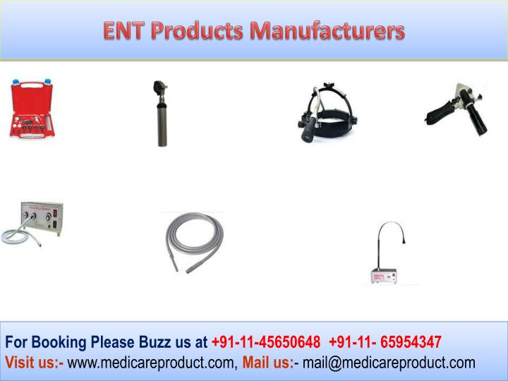 ENT Products Manufacturers