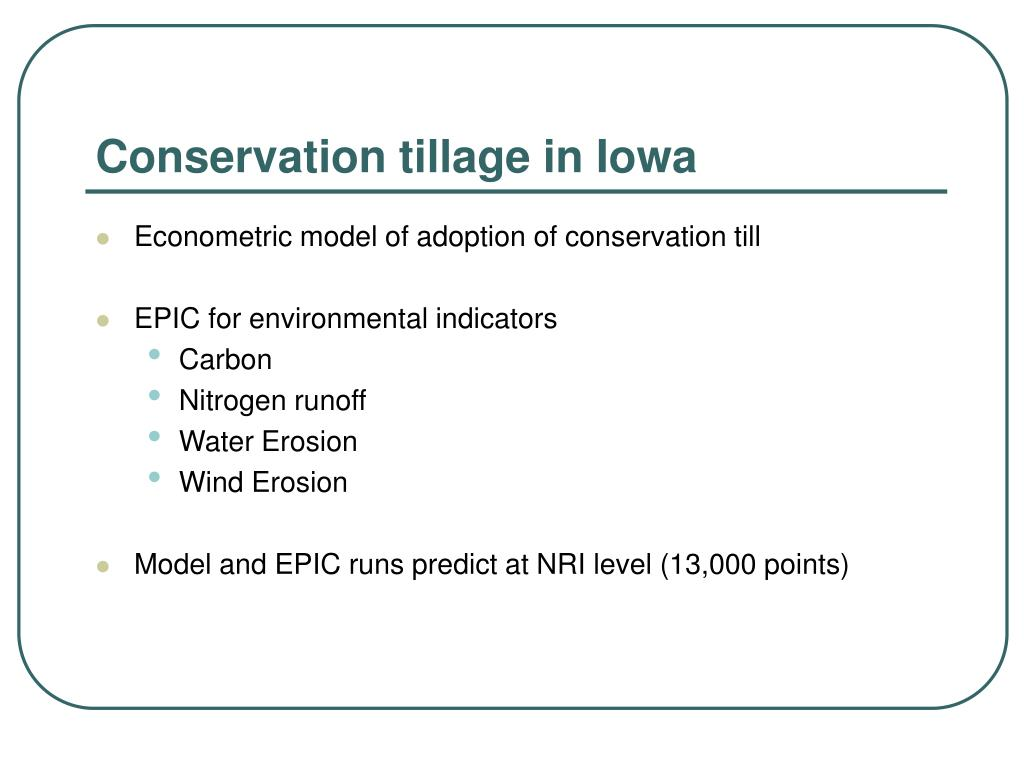 Conservation tillage in Iowa