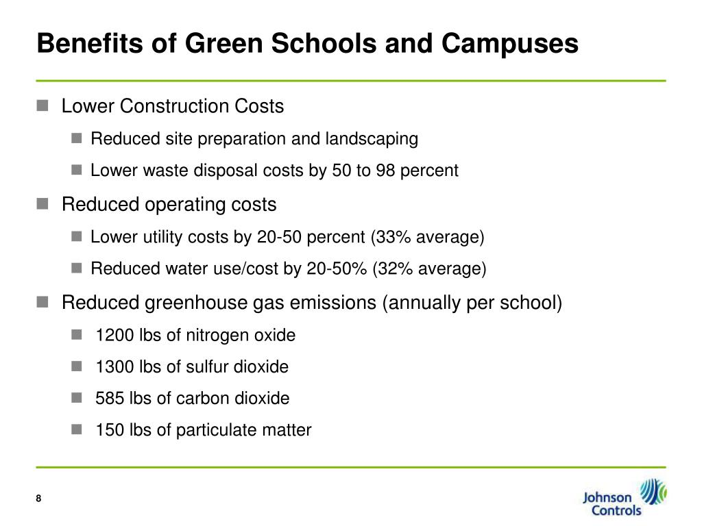 Benefits of Green Schools and Campuses