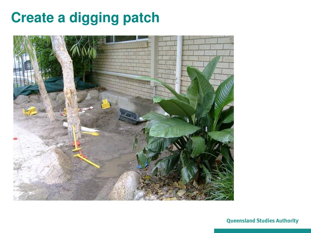 Create a digging patch