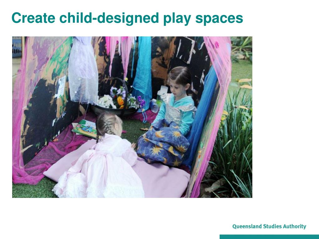 Create child-designed play spaces