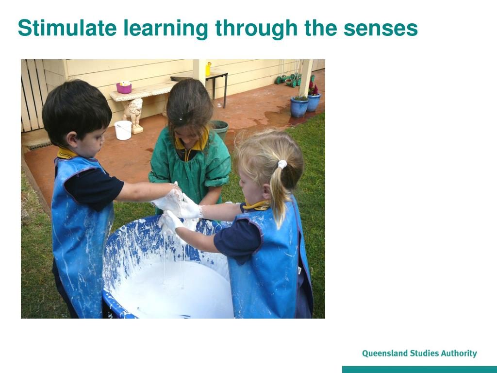 Stimulate learning through the senses