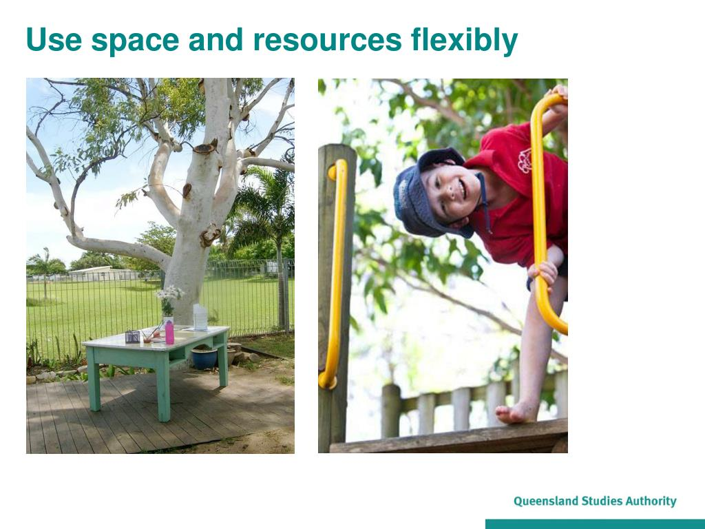 Use space and resources flexibly