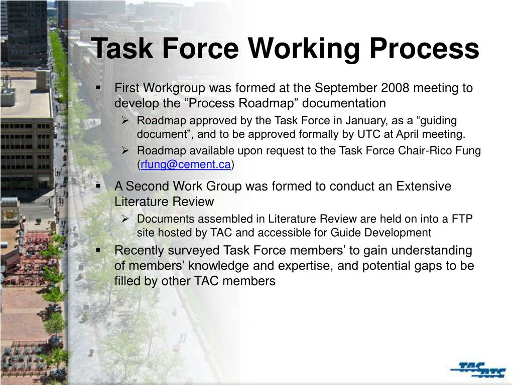 Task Force Working Process