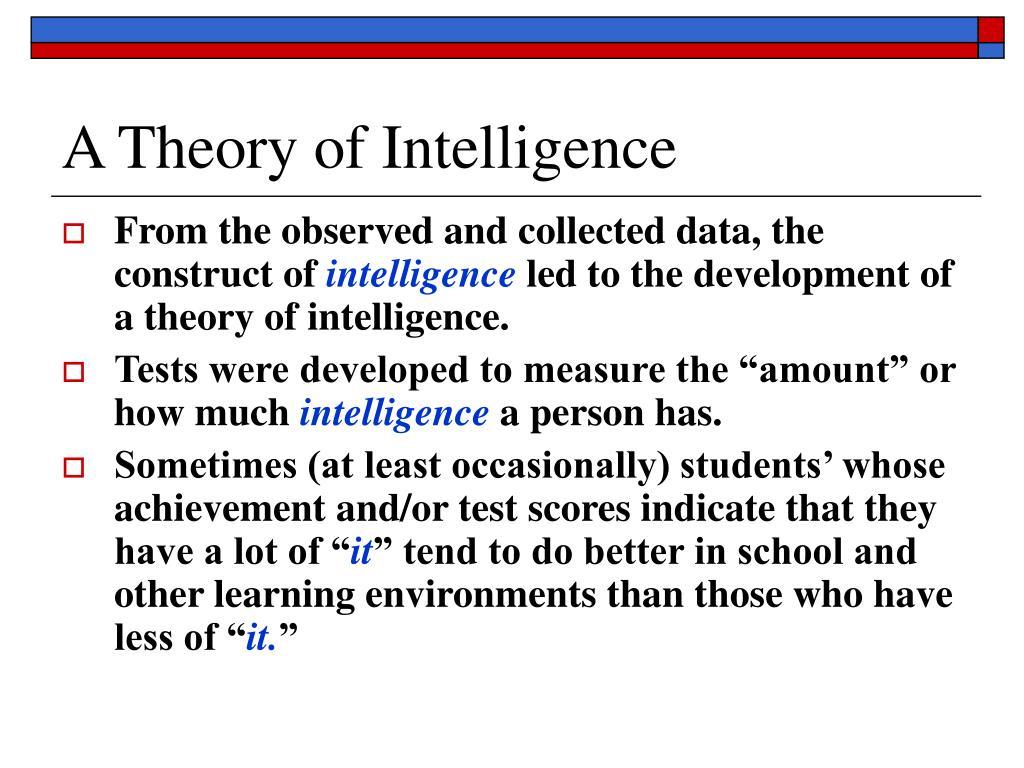 A Theory of Intelligence