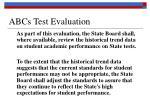 abcs test evaluation
