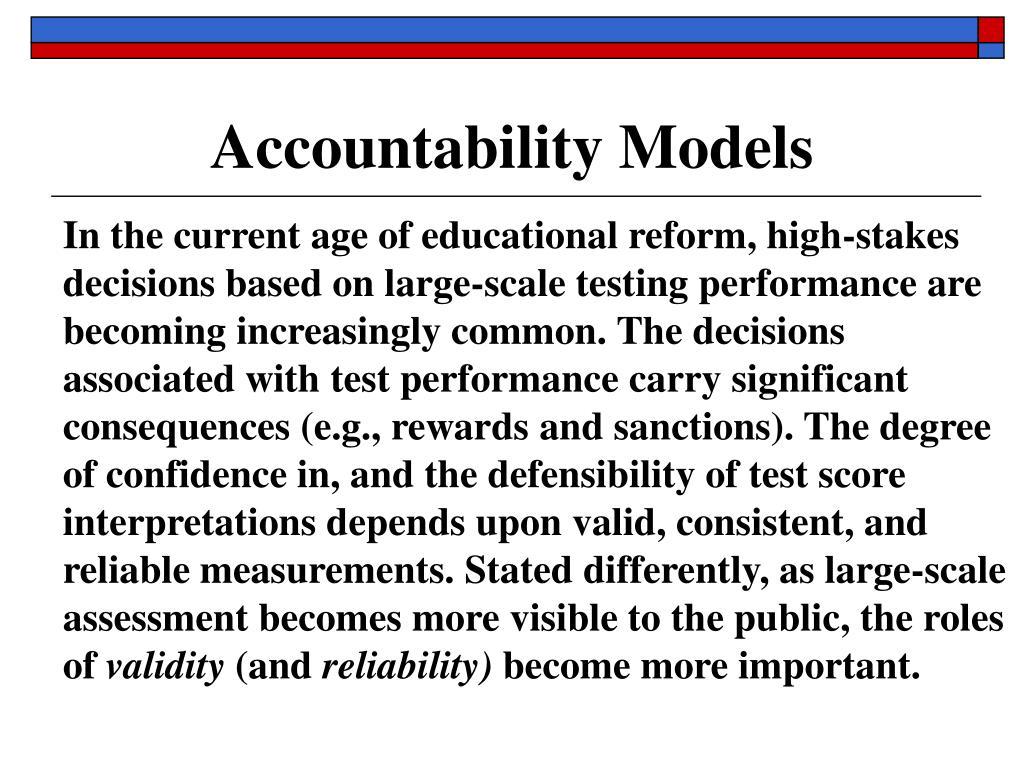 Accountability Models