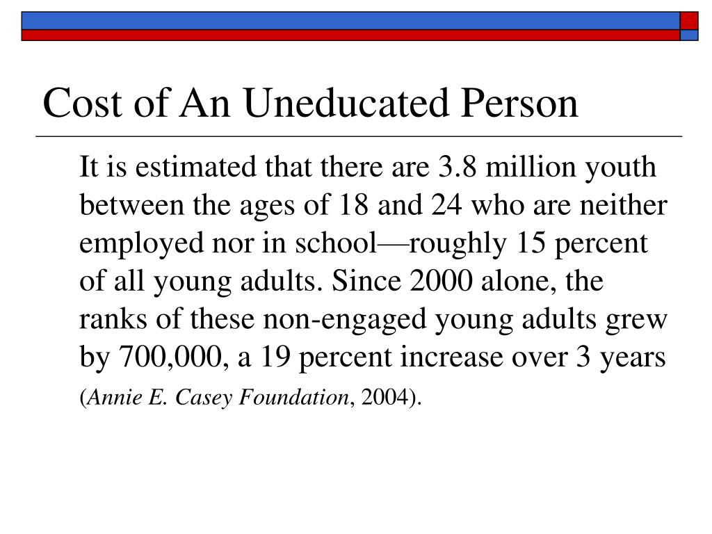 Cost of An Uneducated Person