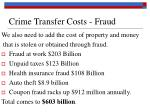 crime transfer costs fraud