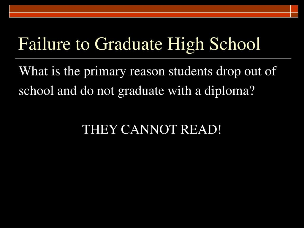 Failure to Graduate High School