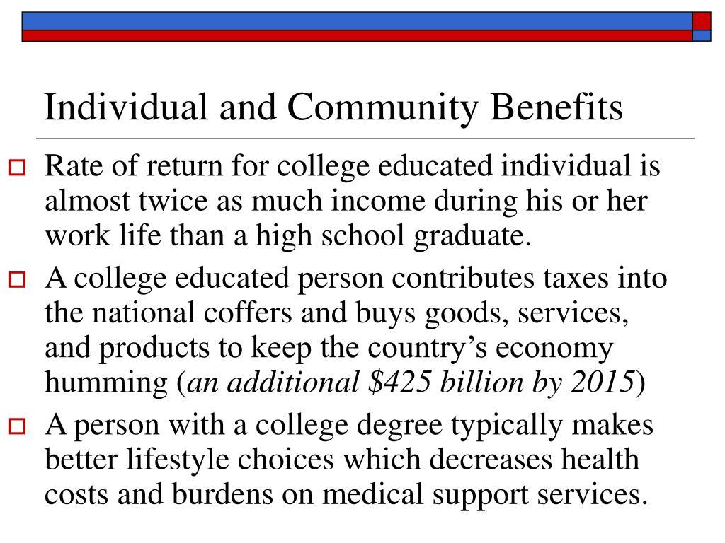 Individual and Community Benefits