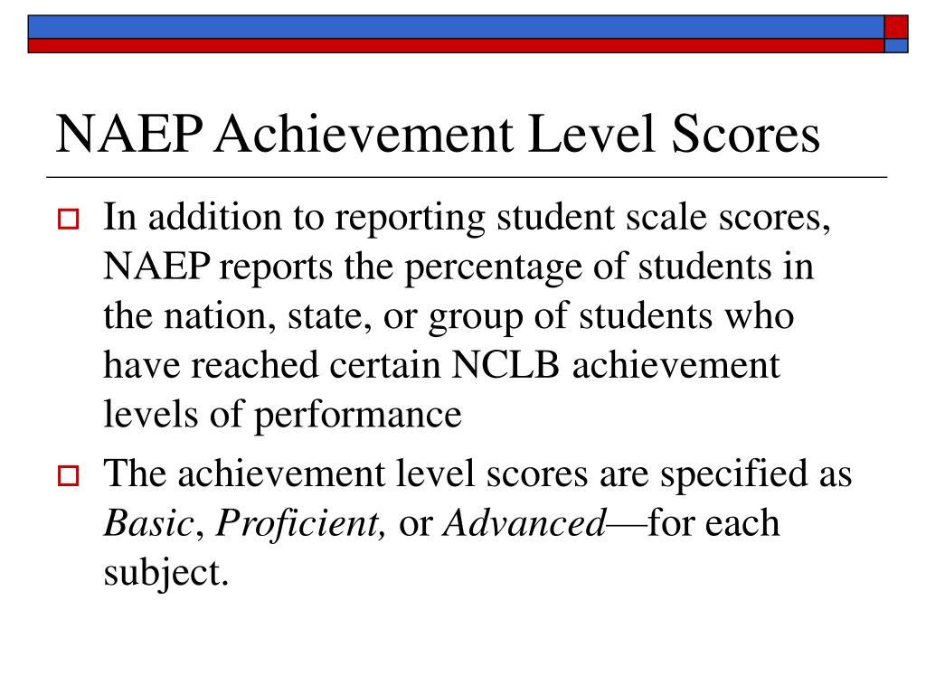 NAEP Achievement Level Scores