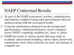 naep contextual results